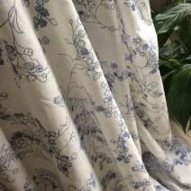 voile de coton fleuri