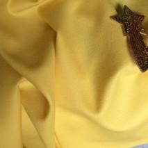Flanelle de laine - tissu jaune au metre