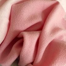 Laine bouillie rose dragée - tissu tailleur