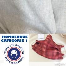 Masque homologué à coudre - tissus et tuto pour 14 masques lavables