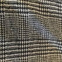 Motif Prince de Galles noir et gris - tissu au mètre – tissu laine