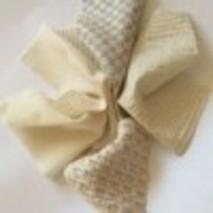 Patchwork tissu relief écru/blanc