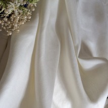 Tissu ameublement blanc - satin de lin tissu haut de gamme