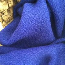 Tissu bouclette bleu - tissu d'ameublement