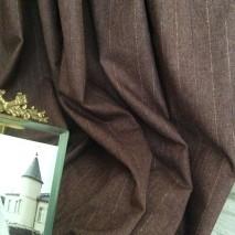 Tissu ameublement rayures tennis tissu marron café