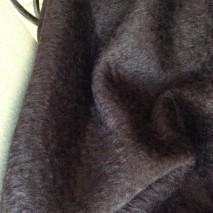 Tissu laine en mohair tissu marron tissu pour plaid mohair