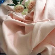 Tissu lin léger rose clair - tissu habillement pour chemisier, jupe