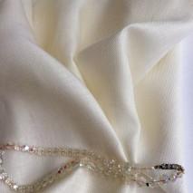 Tissu lin écru au reflet brillant - tissu au metre couture lin
