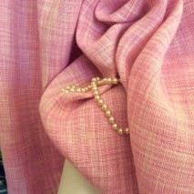 Tissu lin flammé rose tissu tailleur