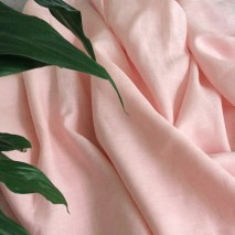 Tissu rideau lin rose – tissu ameublement au mètre