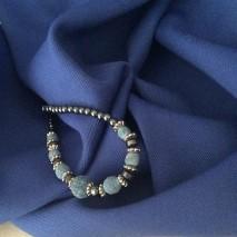 Tissu sergé gabardine en polyester laine - tissu bleu au mètre