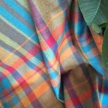 Tissu tartan multicolore - tissu d'ameublement en laine