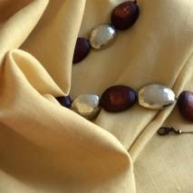 Tissu uni couleur jaune paille tissus au mètre pour la couture