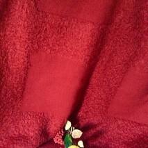 Tissus ameublement - tissu double face brique rouge - tissu mohair pour couverture