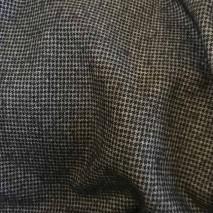Tissus en ligne - Motif pied de poule noir et gris