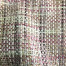 Tweed au mètre tissu tweed rose effet satiné