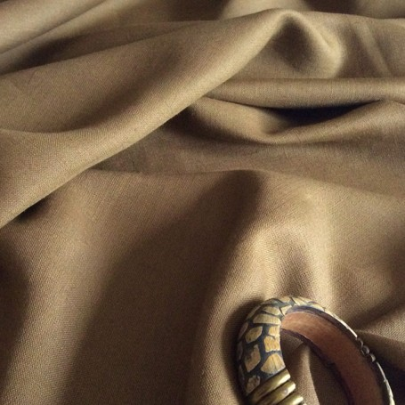 tissu lin kaki de qualité