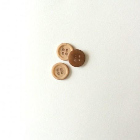Bouton à quatre trous chiné beige rosé