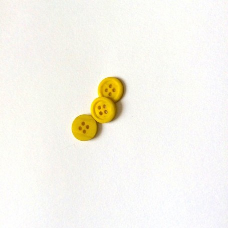 Bouton 4 trous chiné jaune anis