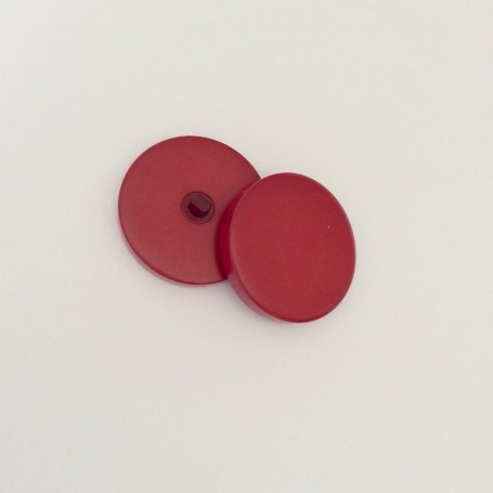 Bouton tige de grosse taille rouge