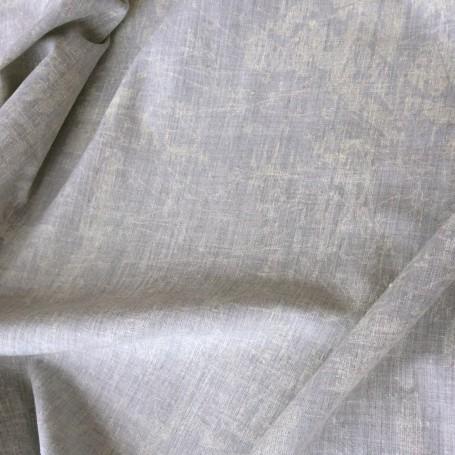 tissu polyester imprimé gris blanchi