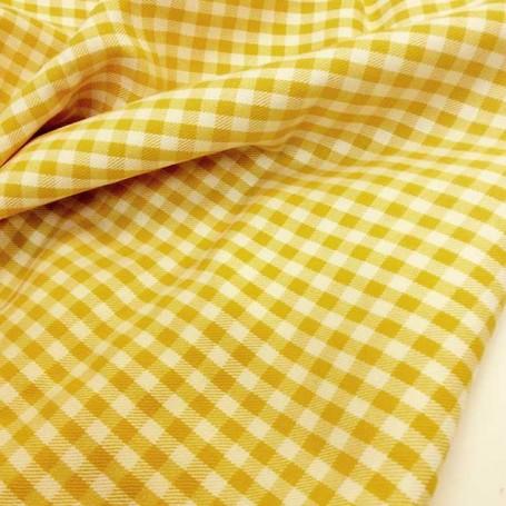 Coupon tissu vichy cardailhac
