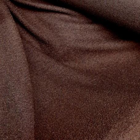 Tissu laine bouillie marron