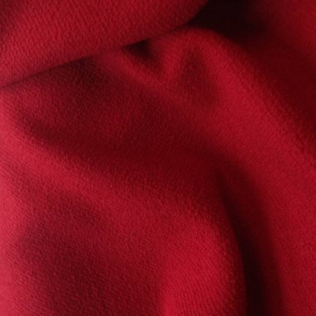 Tissu laine bouillie rouge