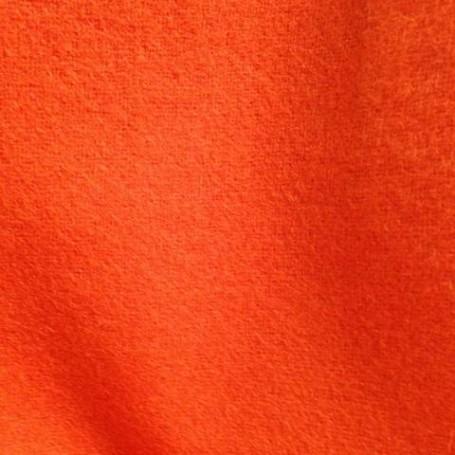Drap de laine bouillie orange pour capes, trenchs, blousons