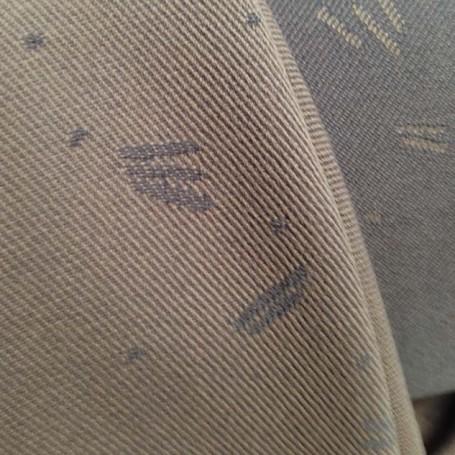 Drap de laine jacquard beige