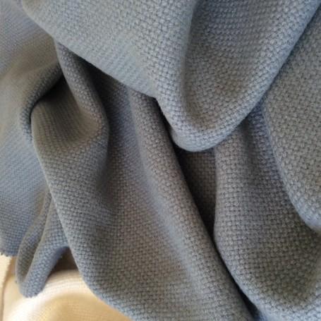 Drap de laine grosse toile gris