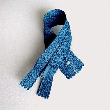 Fermeture à glissière curseur bloquant Bleu Turquoise foncé