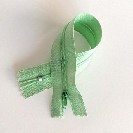 Fermeture à glissière curseur bloquant Vert pastel