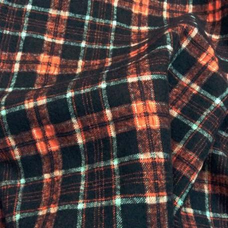 Tissu flanelle de laine tissu ecossais noir et rouge