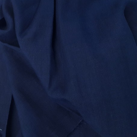 tissu en lin toile bleu marine