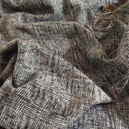 vente de tissu laine noir et blanc