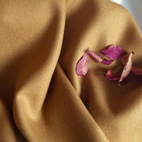 Shetland tissu moutarde