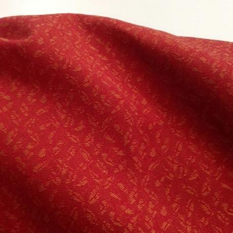 Tissu ameublement rouge et cuivré