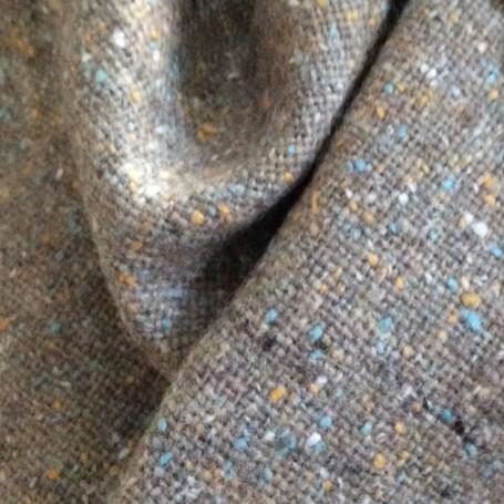 Tissu tweed gris tourterelle