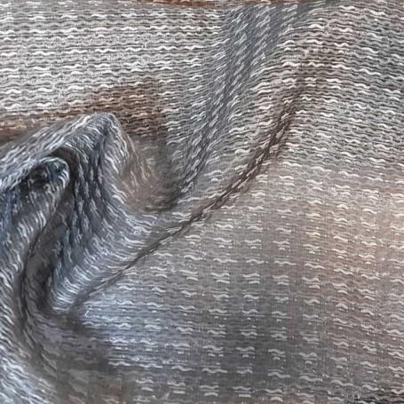 Tissu jacquard gris argenté