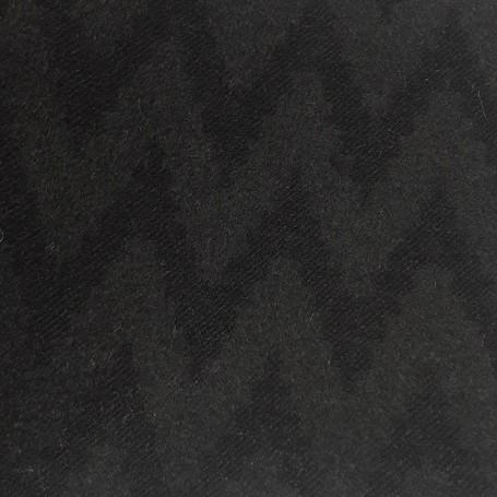 Drap de laine cachemire noir velours