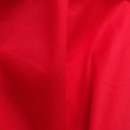 Tissu coton popeline rouge, chemisier, jupe, pantalon