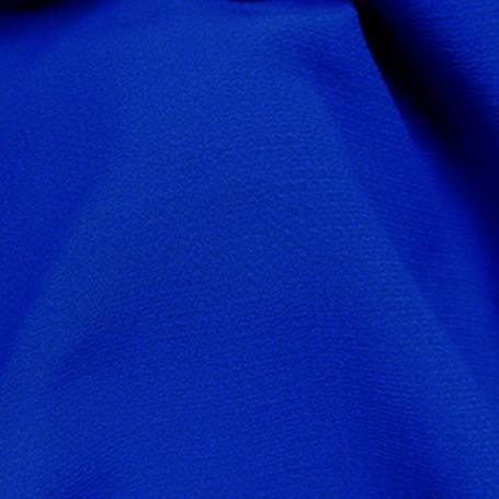 Tissu de laine crêpe bleu