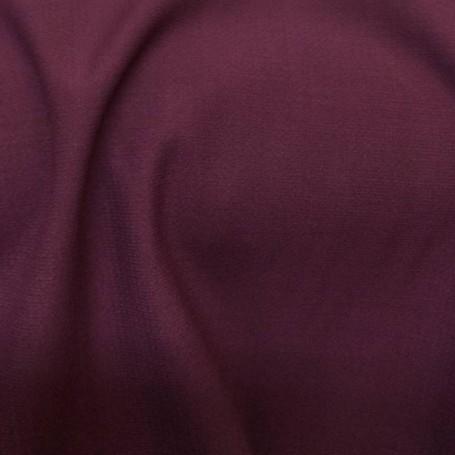 Tissu de laine crêpe envers satin bordeaux