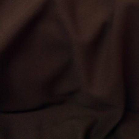 Tissu de laine crêpe envers satin marron