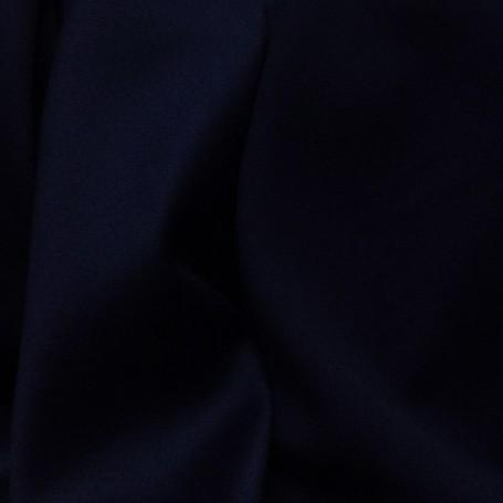 Tissu de laine crêpe envers satin marine