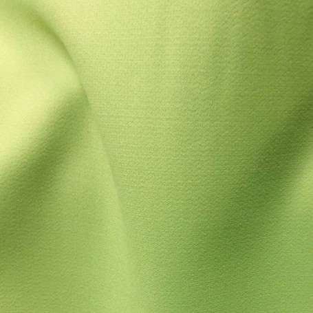 Tissu de laine crêpe envers satin vert anis