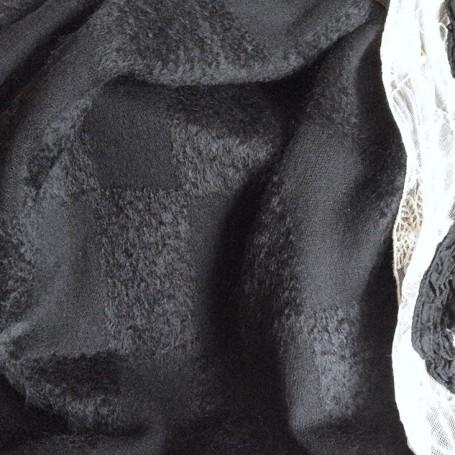 tissu mohair noir pour manteau
