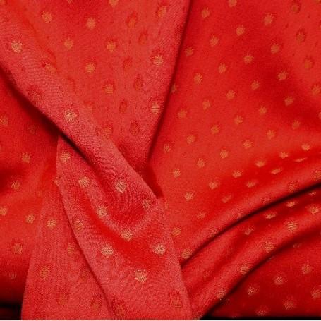 Tissu laine jacquard rouge
