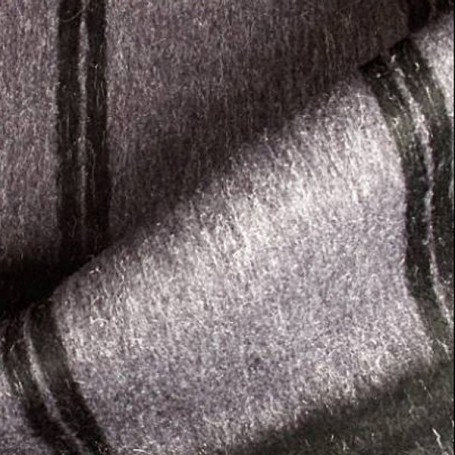 Tissu laine ameublement violet grand carreaux noir